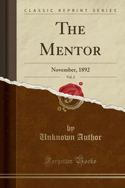 The Mentor, Vol. 2, Author Unknown
