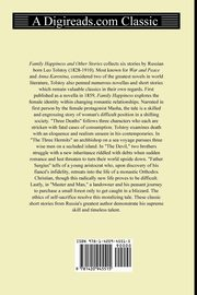 Family Happiness and Other Stories, Tolstoy Leo Nikolayevich