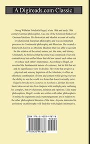 Introductory Lectures on Aesthetics, Hegel Georg Wilhelm Friedrich