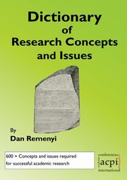 A Dictionary of Research Terms and Issues, Remenyi Dan
