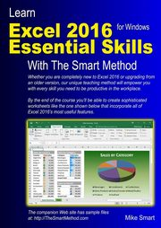 ksiazka tytuł: Learn Excel 2016 Essential Skills with The Smart Method autor: Smart Mike