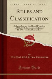 Rules and Classification, Commission New York Civil Service