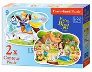 Puzzle Snow White and the Seven Dwarfs 2 w 1,