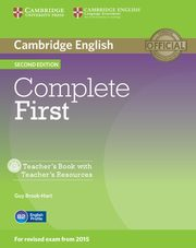 Complete First Teacher's Book with Teacher's Resources +CD, Brook-Hart Guy
