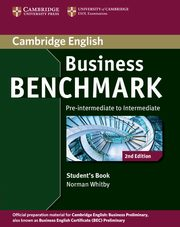 Business Benchmark Pre-intermediate to Intermediate Student's Book, Whitby Norman