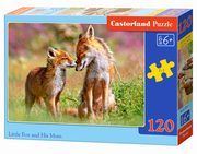 Puzzle Little Fox and His Mum 120,