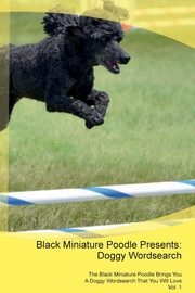 Black Miniature Poodle Presents, Puzzles Doggy